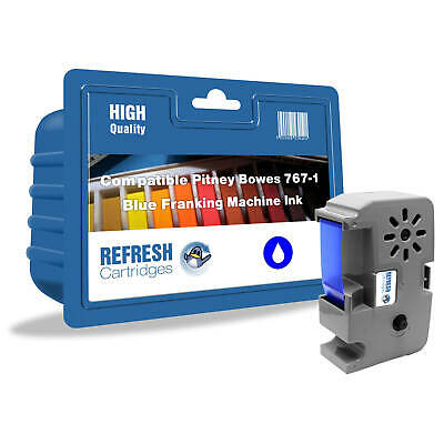 Refresh Cartridges Blue 767-1 Ink Compatible With Pitney Bowes Printers