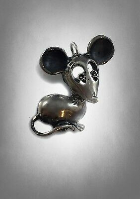 Mouse Rat Jerry Ratatouille Solid Sterling Silver 925 Handmade Pendant