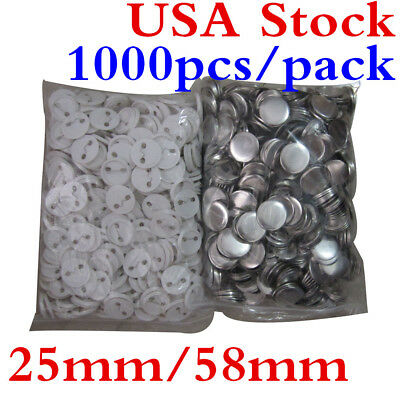 USA! 1000pcs 25mm 58mm Blank Pin Badge Button Supplies for Badge Maker Machine