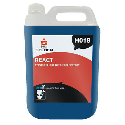 Selden H018 REACT Acid Descaler & Renovator - 5 Litres - FREE 48 HOUR DELIVERY