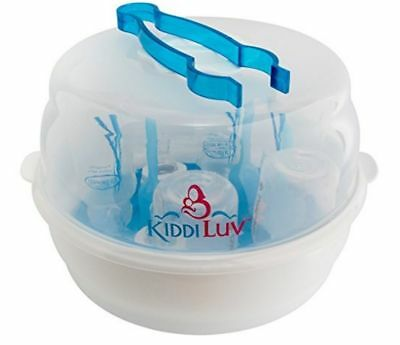 Kiddiluv Microwave Steam Sterilizer - Fits 6 Baby Bottles,Hygeni Pro, White