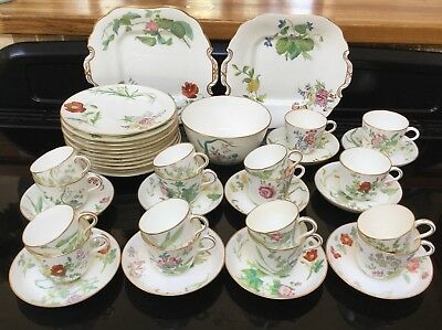 Antique Minton Tea And Coffee Set Circa 1850 - 1878 G599 Hand Painted