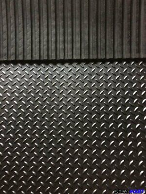 Heavy Duty Large Rubber Gym Mat Commercial Gym Flooring 12mm Checker  design