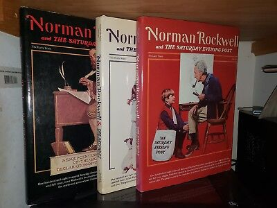 Norman Rockwell & the Saturday Evening Post HC DJ 3 Volume Set 1976 Four S