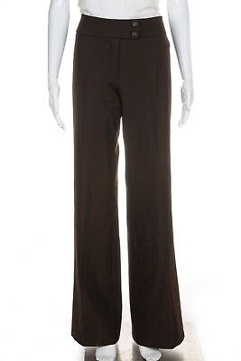 UNITED COLORS OF BENETTON Stretch Dress Pants 10 Brown Slacks Women's
