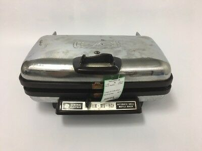Vintage Chrome General Electric Waffle Iron Maker Baker & Panini Press 1960s