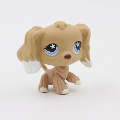 Littlest Pet Shop Animals Toys Cream Cocker Spaniel Puppy Hasbro Gift Figure LPS