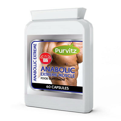 Anabolic Extreme Muscle Mass Capsules Builds Muscle Fast Strong LEGAL NO Steroid