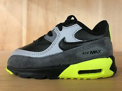 a4fb15983a11 ... uk nike air max 90 ltr black wolf grey lime green infant baby td sz 4