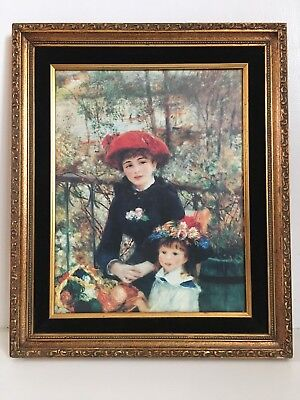 Renoir Two Sisters (On the Terrace) 1881 Antique Gold Framed Print 11x14