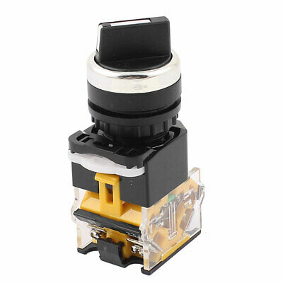 LA38/203 22mm Panel Mount NO/NC DPST 2 Position Rotary Selector Switch