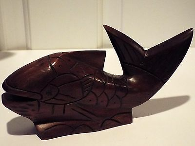 Collectible Lahms Mahogany Hand Carved Mahogany Fish ~ Simply Beautiful