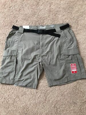25ee066efd Men's Coleman Outdoor Hiking Nylon Cargo Shorts Quick Dry Cell Phone Pocket  $65