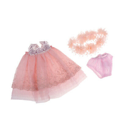Lace Princess Dress With Headwear And Underpants For 18 Inch Girl Dolls