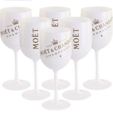 Moet Chandon Ice Imperial Champagne Flutes X 6 New Style 2018 Brand New