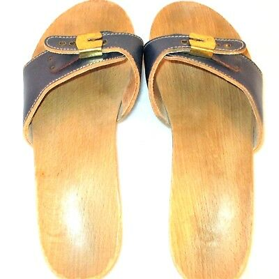 fa4ffc490bf9 Vintage Dr Scholls Original 1970 s Exercise Size 8 Slides Sandals Slip On  Shoes