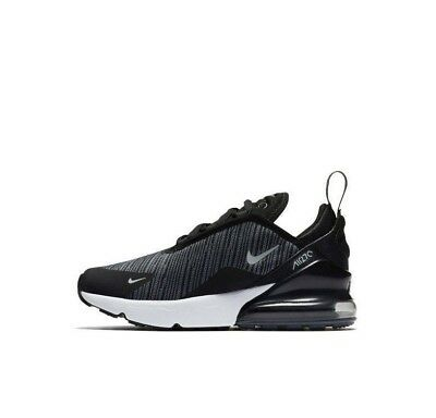 online store 22f45 bd5ae NEW AO2372 008 Kids/Boys/Girls Nike Air Max 270 (Ps) Shoe !! Black/Wolf Grey