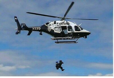 New York City Police Department Aviation Unit N918Pd In-Flight 4X6 Color Photo