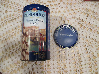 """23--  GONDOLIER'S    BISCUITS   TIN   7   """"  x  4    """"  High  --IN  GOOD ORDER"""