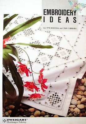 EMBROIDERY IDEAS 3770 Davosa & 3969 Carrara Hardanger Fabrics Stitches Projects