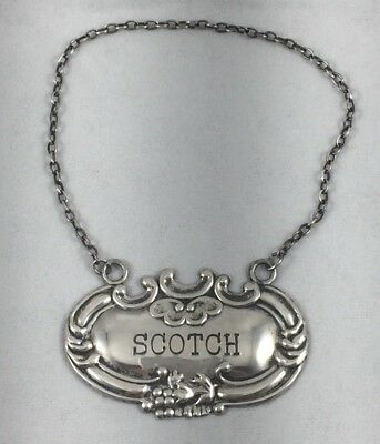 "Fancy Scotch Sterling 2"" Liquor Label"