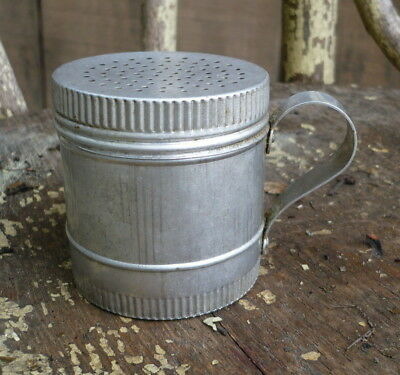 Vintage Aluminum Powdered Sugar Shaker With Handle