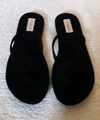 cd21b7a05e71 FLOJOS FIESTA FLIP Flops Black Arch Support Soft Fabric Women s Size ...