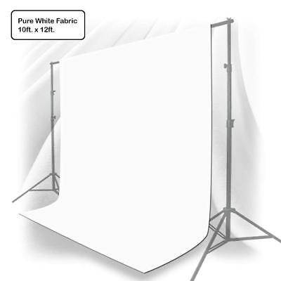 10x12 ft White Muslin Backdrop Background Screen Photo Studio Video Photography