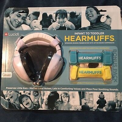 Infant to Toddler Hearmuffs by LUCID with bonus pack