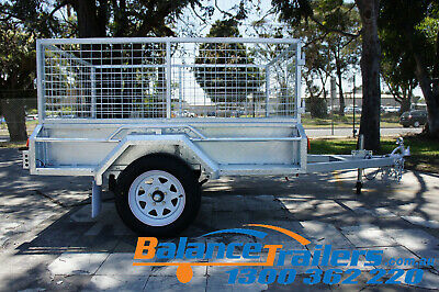 6x4 Hot Dip Galvanised Full Welded Tipper Box Trailer With 600mm Removable Cage