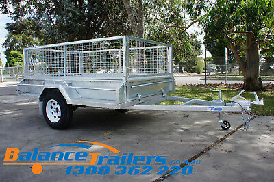 8x5 Galvanised Fully Welded Tipper Box Trailer With 600mm Cage & Brake ATM1400KG