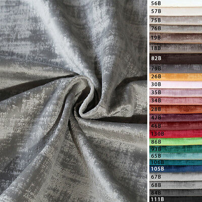 Fabric Velvet A 1/2 Metre Solid Colour Striped h.145 cm Curtains Upholstery