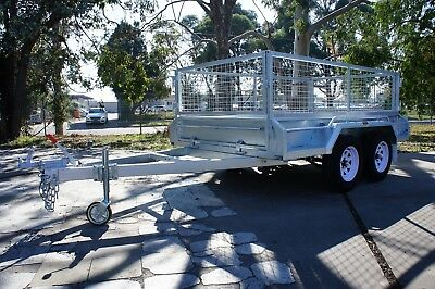 9x5 Hot Dip Galvanised Fully Welded Tandem Trailer With 600mm Removable Cage