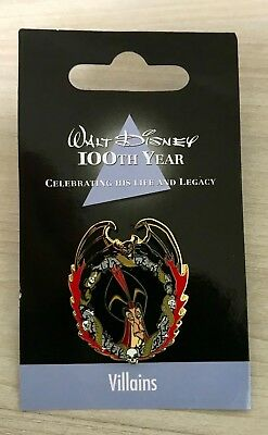 Japan Disney Store JDS 100th Year Villains - Aladdin Jafar Pin Free shipping