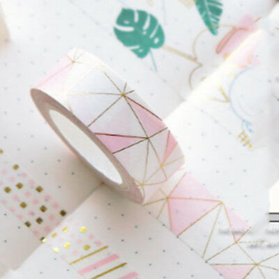 Kawaii Cute Pink Foil Paper Washi Tape Stationery Scrapbooking Decorative Tapes