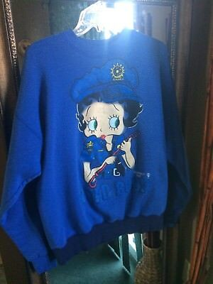 Women's Vintage 1995 Betty Boop NYPD Boop Sweatshirt Size XL