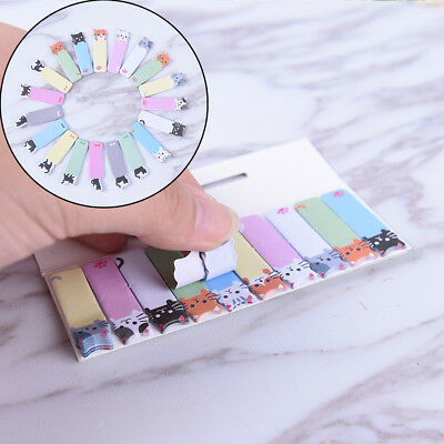 Cute Cartoon Cat Mini Sticker Bookmark Memo Pad Office Flags Sticky Note Decor