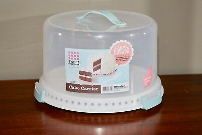 Sweet Creations Cake Carrier Handle Locking Storage Container L@@K 🔥