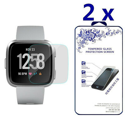 2-Pack For Fitbit Versa Tempered Glass Screen Protector