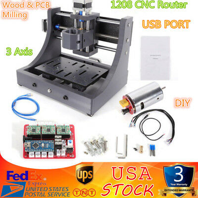 3Axis Mini Mill USB CNC 1208 Router Wood Carving Engraving Machine PCB Milling