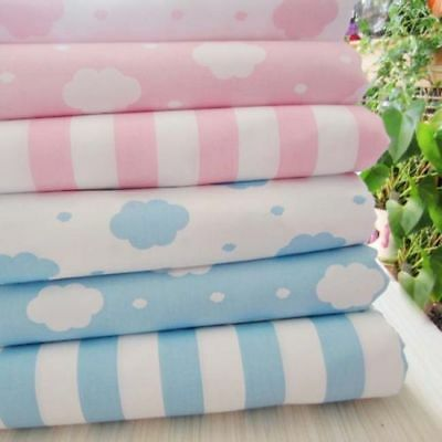 One PCS Cotton Fabric Pre-Cut Cotton cloth Fabric for Sewing Clouds Or Stripes