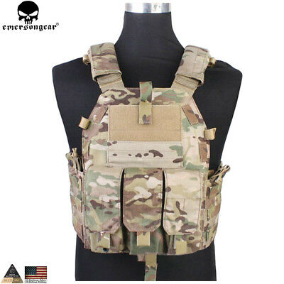 Military Tactical Airsoft Vest Paintball Molle Carrier Combat Hunting With Pouch