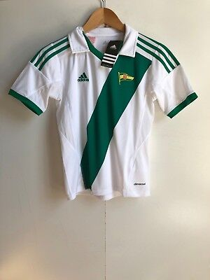 adidas Lechia Gdańsk FC Football Kid's Home Jersey - 9-10 Years - White - New