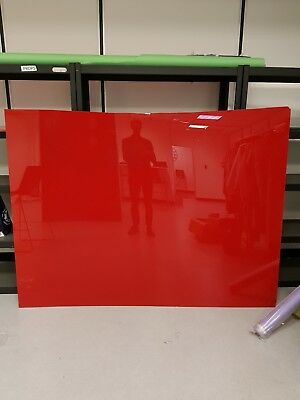 Huge sheet of red perspex. 8mm thick