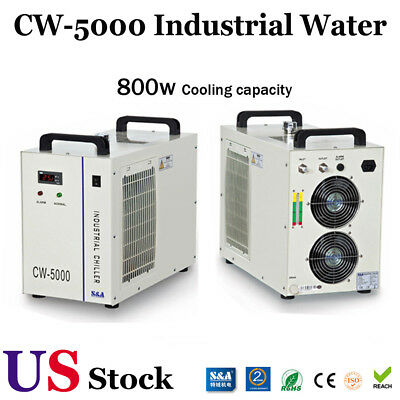 USA 110V Industrial Water Chiller CW-5000DG for 80W or 100W CO2 Glass Laser Tube