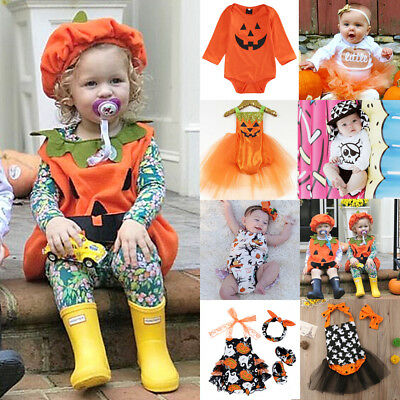 Infant Baby Girl Halloween Costume Kids Tops Romper Dress Party Clothes Outfits