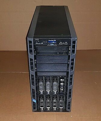 DELL T620 SERVER 2X E5-2609 @2.40GHz 120GB DDR3 RAM 3X 300GB 3X3TB 2X2TB HDDS