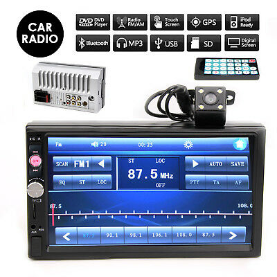 """7"""" Double 2 Din In Dash Car Touch Screen FM/MP5 Player Radio Stereo Rear Camera"""