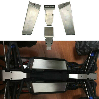 For 1/10 TRAXXAS E-REVO SUMMIT Battery Armor Skid Plate Stainless Steel Replace