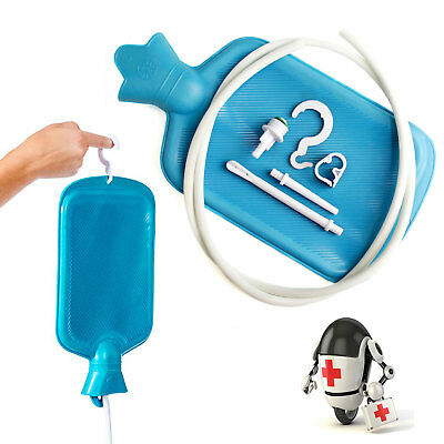 Home Enema System Kit with Hot Water Bottle Colonic Douche Reusable Bag Tubing